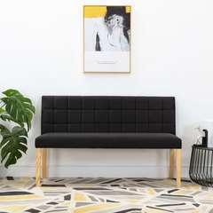 Banc Noir Tissu - 140cm