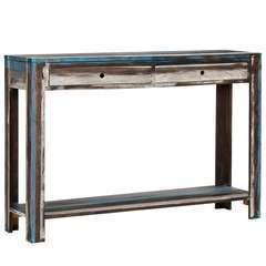 Table console Bois massif Vintage - 118x30x80cm