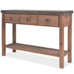 Table console Bois massif de sapin - 122x35x80cm