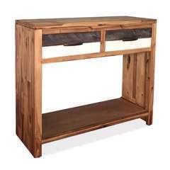 Table console Bois d'acacia massif - 86x30x75cm