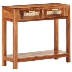 Table console Bois de récupération massif - 86x30x76cm