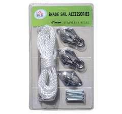 Kit de montage accessoires de fixation en inox pour voile d'ombrage