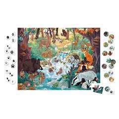 Puzzle les empreintes des animaux 81 pcs