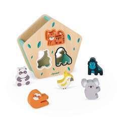 Boîte à formes des animaux (bois)