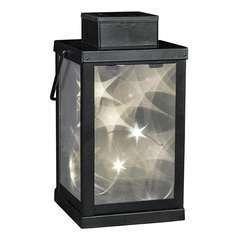 Lanterne magique 3D en verre opaque étoile LED blanc chaud COSMO H24cm