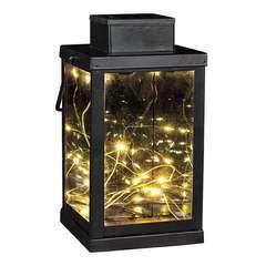 Lanterne magique en verre transparent LED blanc chaud MICROCOSMO H24cm