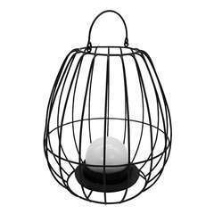 Lanterne cage métal LED blanc chaud SUNSET W25 H27 cm