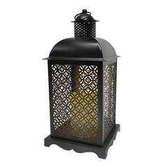 Lanterne photophore orientale en métal LED blanc chaud OASIS H35cm
