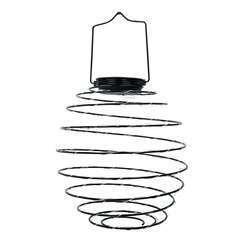 Suspension solaire spirale métal micro LED blanc chaud ORION H37cm