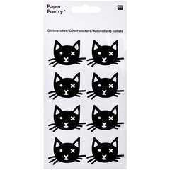 Autocollants palletés tête de chat (x8 pièces)