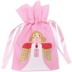 Sac cadeau rose avec Ange - petit format 30x20cm