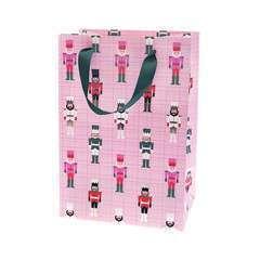 Sac cadeau rose avec Casse-Noisette - 18x26x12 cm