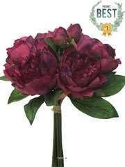 Bouquet de Pivoines artificielles 8 têtes