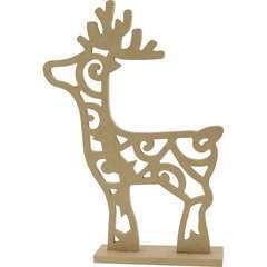 Renne sur socle en médium arabesque - 38,5 x 28,5 cm