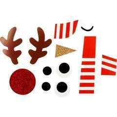 Sac cadeau à décorer en kraft et accessoires, 14,9 x 17,9 x 8cmx 4pcs