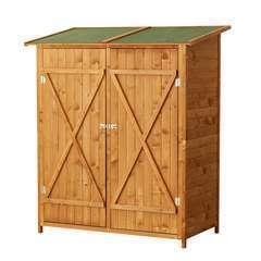 Abri de jardin 2 portes en bois - L140xl75xH165cm - 10,5m²