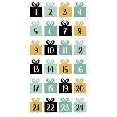 24 Stickers autocollants - Puffies Imagine Noël chiffres de l'Avent