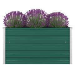 Jardinière 100 x 100 x 45 cm Acier galvanisé Vert