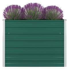 Jardinière 100 x 100 x 77 cm Acier galvanisé Vert