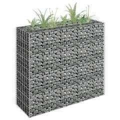 Jardinière surélevé à gabion Acier galvanisé 90x30x90 cm