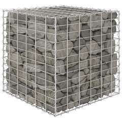 Jardinière surélevé cube à gabion Fil d'acier 60x60x60 cm