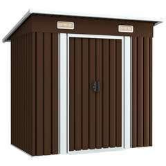 Abri de stockage pour jardin Marron 194x121x181 cm Acier