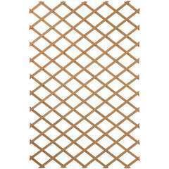Treillis de jardin 100 x 300 cm Bois Marron