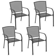 Chaises d'extérieur 4 pcs Design maillé Anthracite Acier