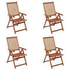 Chaises pliables de jardin 4 pcs Bois d'acacia solide