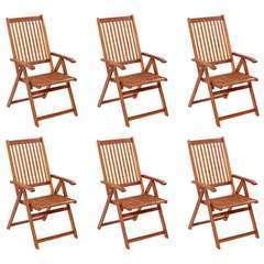 Chaises pliables de jardin 6 pcs Bois d'acacia solide