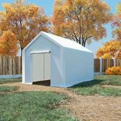 Tente de rangement PE 3 x 4 m Blanc
