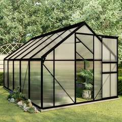 Serre avec cadre de base Anthracite Aluminium 5,89 m²