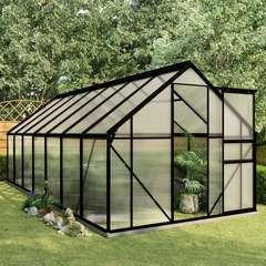 Serre avec cadre de base Anthracite Aluminium 8,17 m²