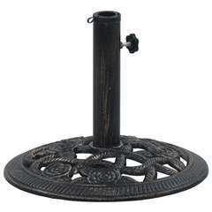 Socle de parasol Noir et bronze 9 kg 40 cm Fonte