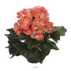 Begonia artificiel en pot H 28 cm superbe