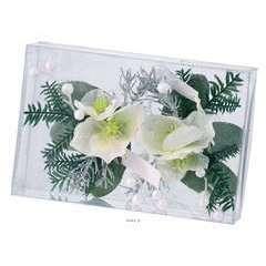 Composition Sapin et fleurs neige de noel