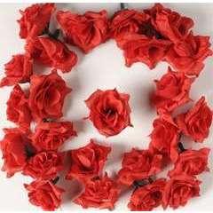 Tetes de rose Artificielle X 24 Rouge Ceri