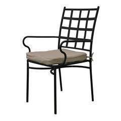 Chaise de jardin tivoli acier 40,5x50,5x89 cm empilable noir