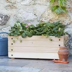 Jardinière en bois 20x60 cm