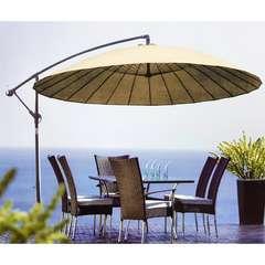 Parasol rond décentré 2,7m saigon/ beige