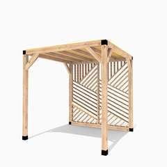 Pergola en bois La Filoute toit canisse - 6m²