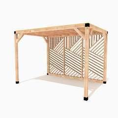 Pergola en bois La Filoute toit canisse - 9m²