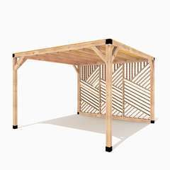 Pergola en bois La Filoute toit canisse - 12m²