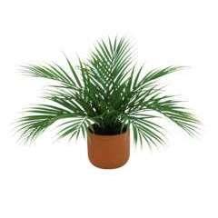 Palmier areca artificiel 12 palmes en pot terracotta - 40cm