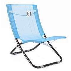 Chaise de plage pliable bleu turquoise - 58 x 47 x 61 cm