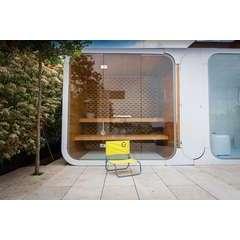 Chaise de plage jaune - 50 x 45 x 48 cm