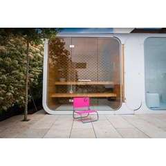 Chaise de plage rose - 50 x 45 x 48 cm