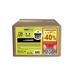 Les cuisinés pour chat recette n°8 Canard 8x80g