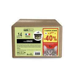 Les cuisinés pour chat recette n°14 Dinde 8x80g