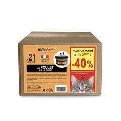 Les cuisinés pour chat recette n°21 Poulet/Dinde 8x80g